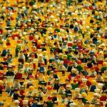 レゴフィギアで埋まった観客席